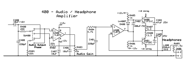 Quality Audio Modulation Monitor circuit design?